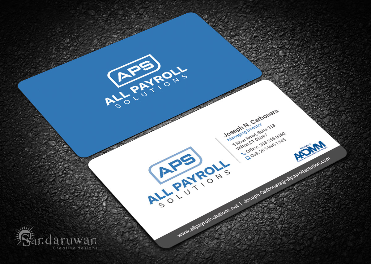Serious, Modern, Financial Service Business Card Design for All
