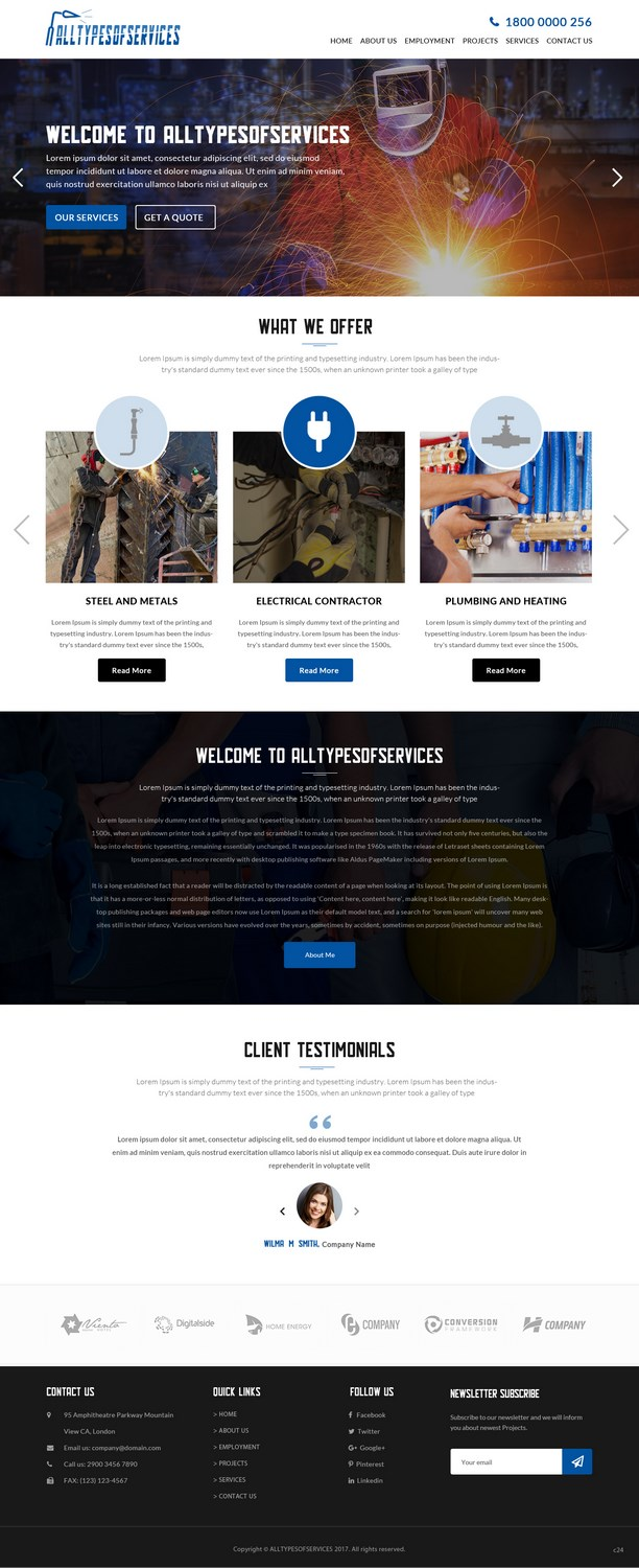 Bold, Serious, Contractor Web Design for a Company by pb