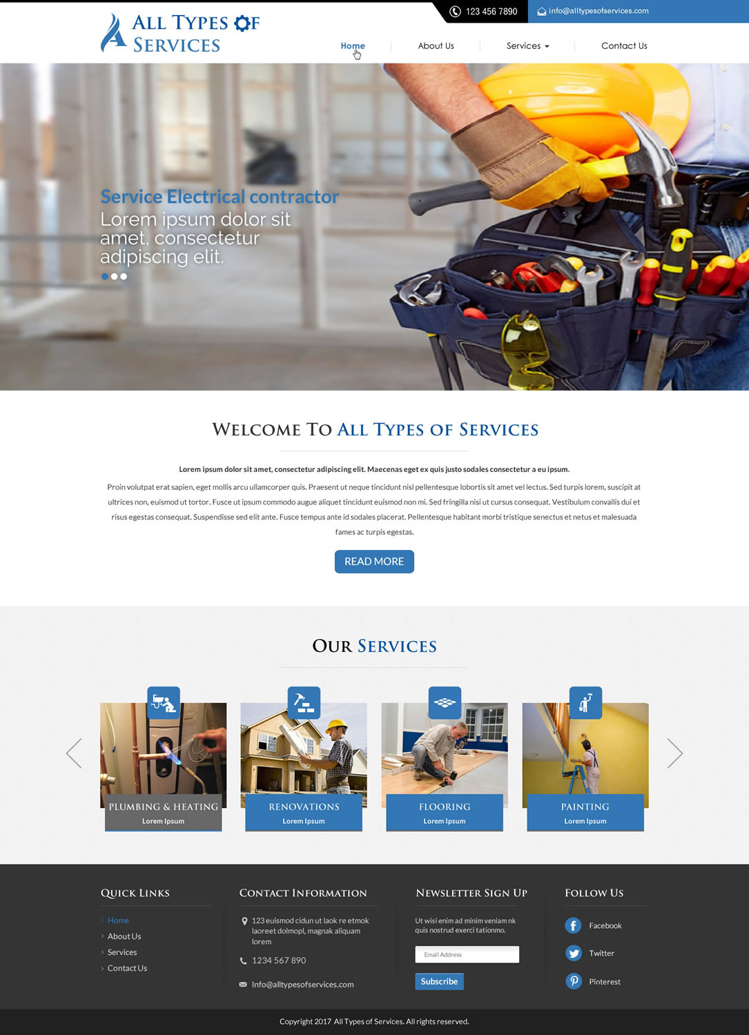 Bold, Serious, Contractor Web Design for a Company by Sbss