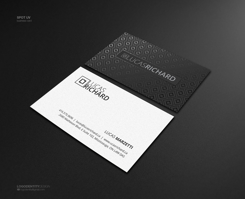Serious modern business business card design for lucas richard business card design by logodentity for lucas richard design design 14194009 reheart Images