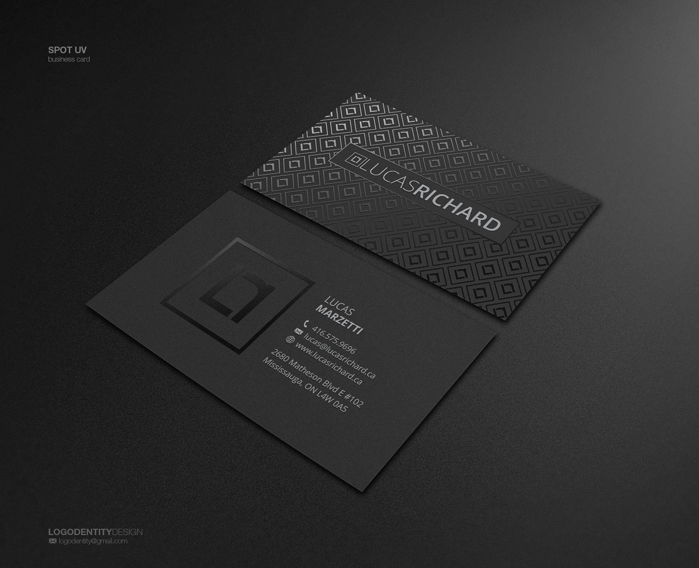 Serious modern business business card design for lucas richard business card design by logodentity for lucas richard design design 14194625 reheart Images