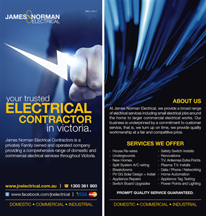 Flyer Design by Jasmine - Electrical Contractor needs new Flyer