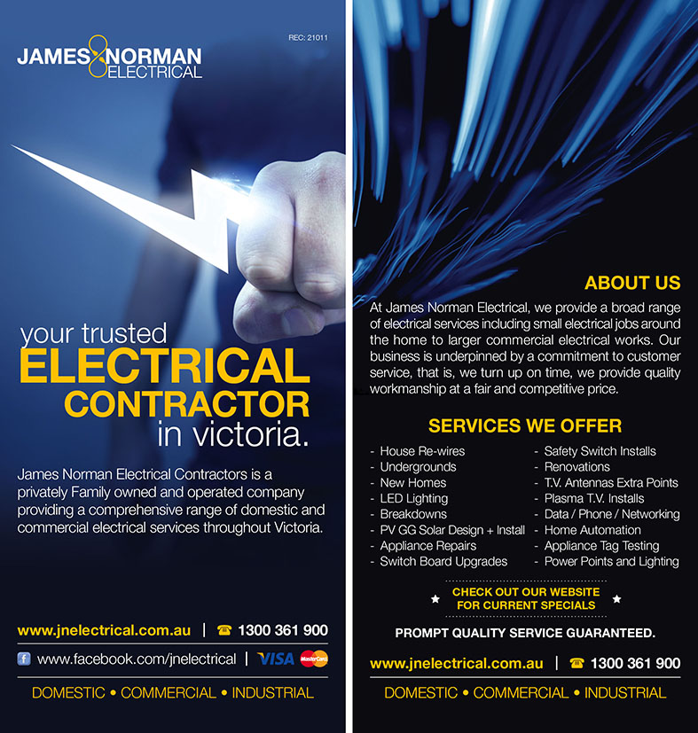 Electrical Home Design Ideas: Professional, Modern, Printing Flyer Design For A Company