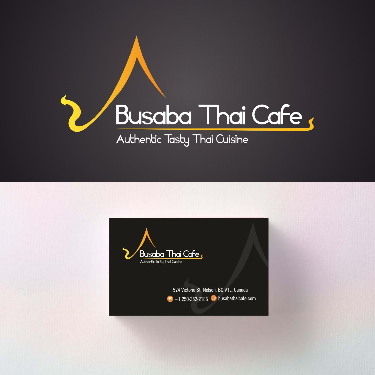 Serious Elegant Asian Restaurant Logo And Business Card