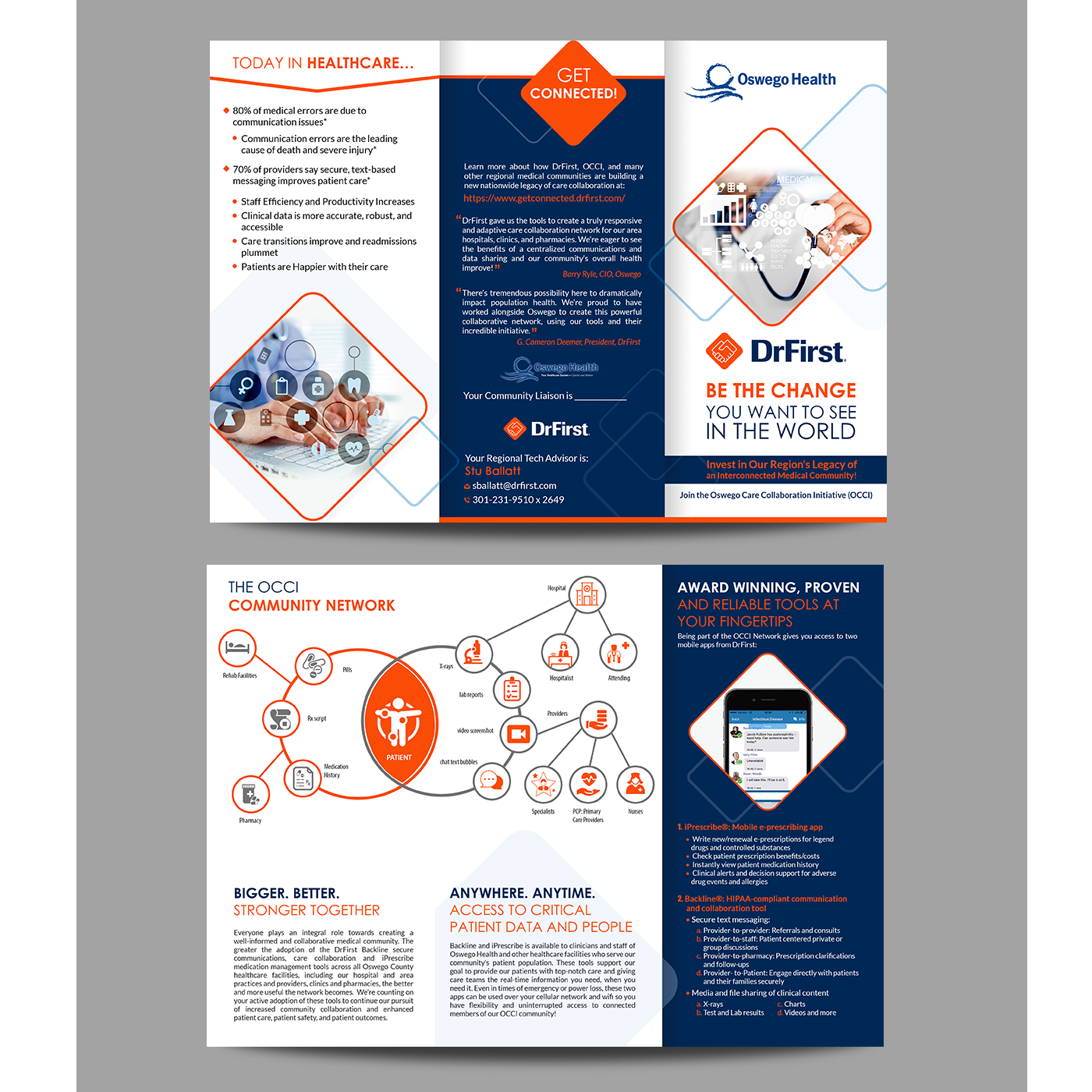 Modern, Bold, Healthcare Flyer Design for a Company by creative bugs