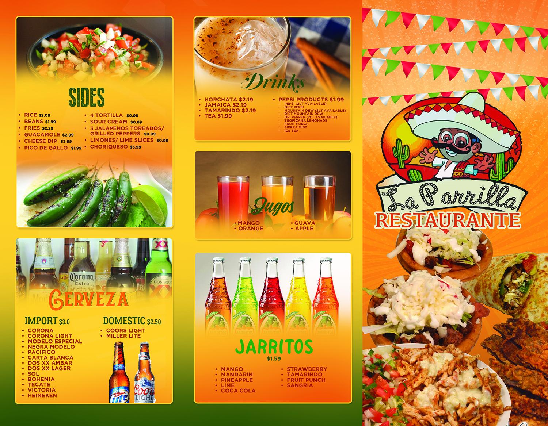 modern elegant mexican restaurant menu design for a company by