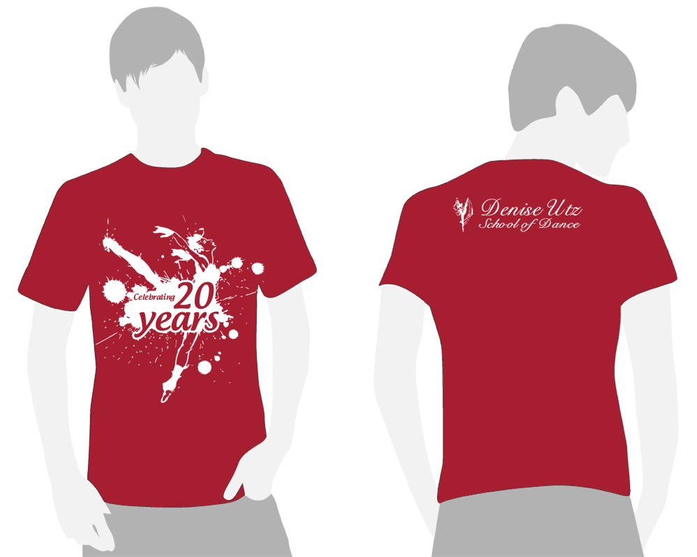 Design t shirt school - T Shirt Design Design 2518529 Submitted To Dance School Needs A Commemorative