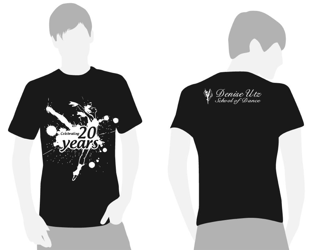 Shirt design layout - T Shirt Design By Xidea For Dance School Needs A Commemorative 20th Anniversary T