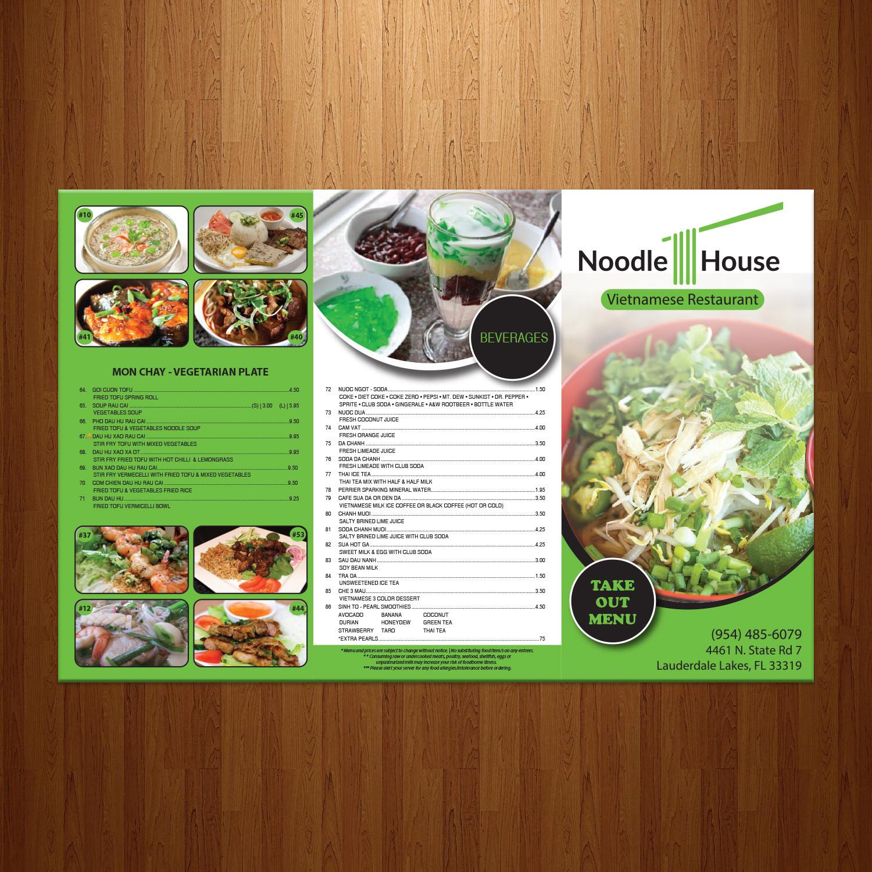 Serious modern restaurant menu design for a company by