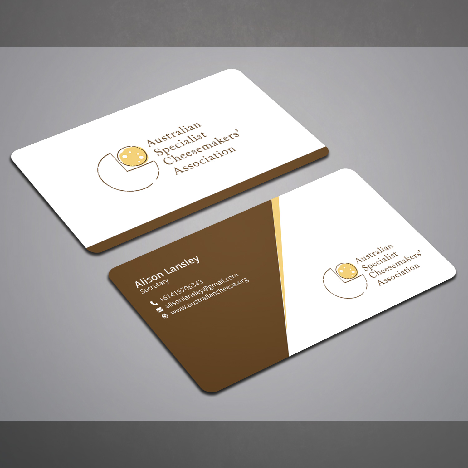 Business Card Design By Right D For Australian Specialist Cheesemakers Association Needs New Cards