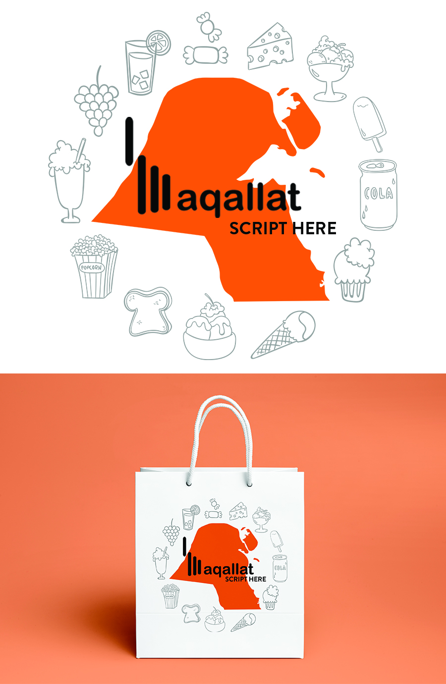 Playful, Modern, Grocery Store Graphic Design for a Company