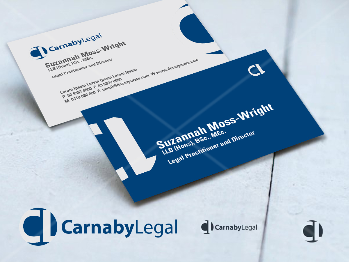 Upmarket, Elegant, Legal Business Card Design for CARNABY LEGAL ...