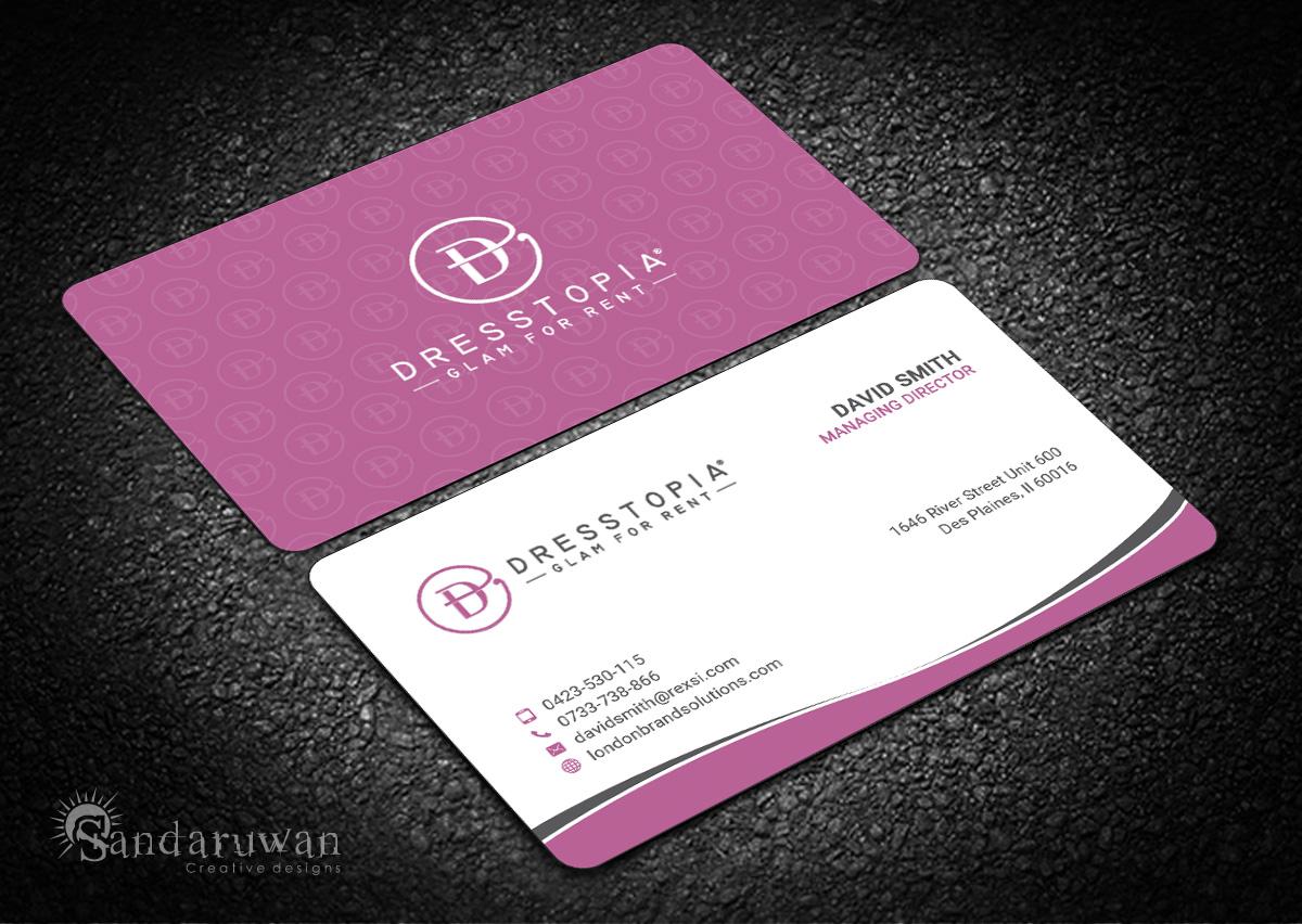 Feminine, Modern, Womens Clothing Business Card Design for a Company ...