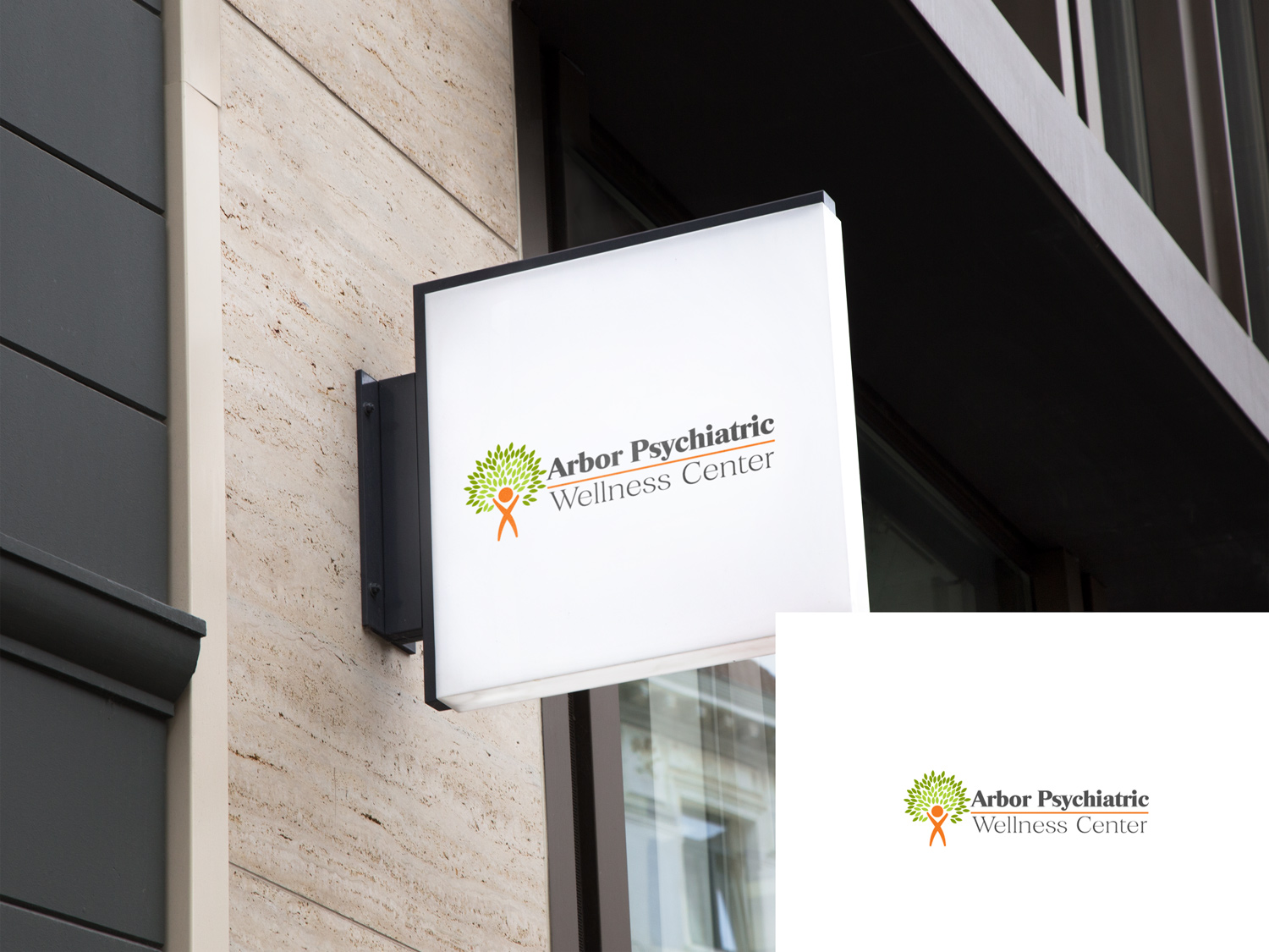 Serious Professional Clinic Logo Design For Arbor Psychiatric And