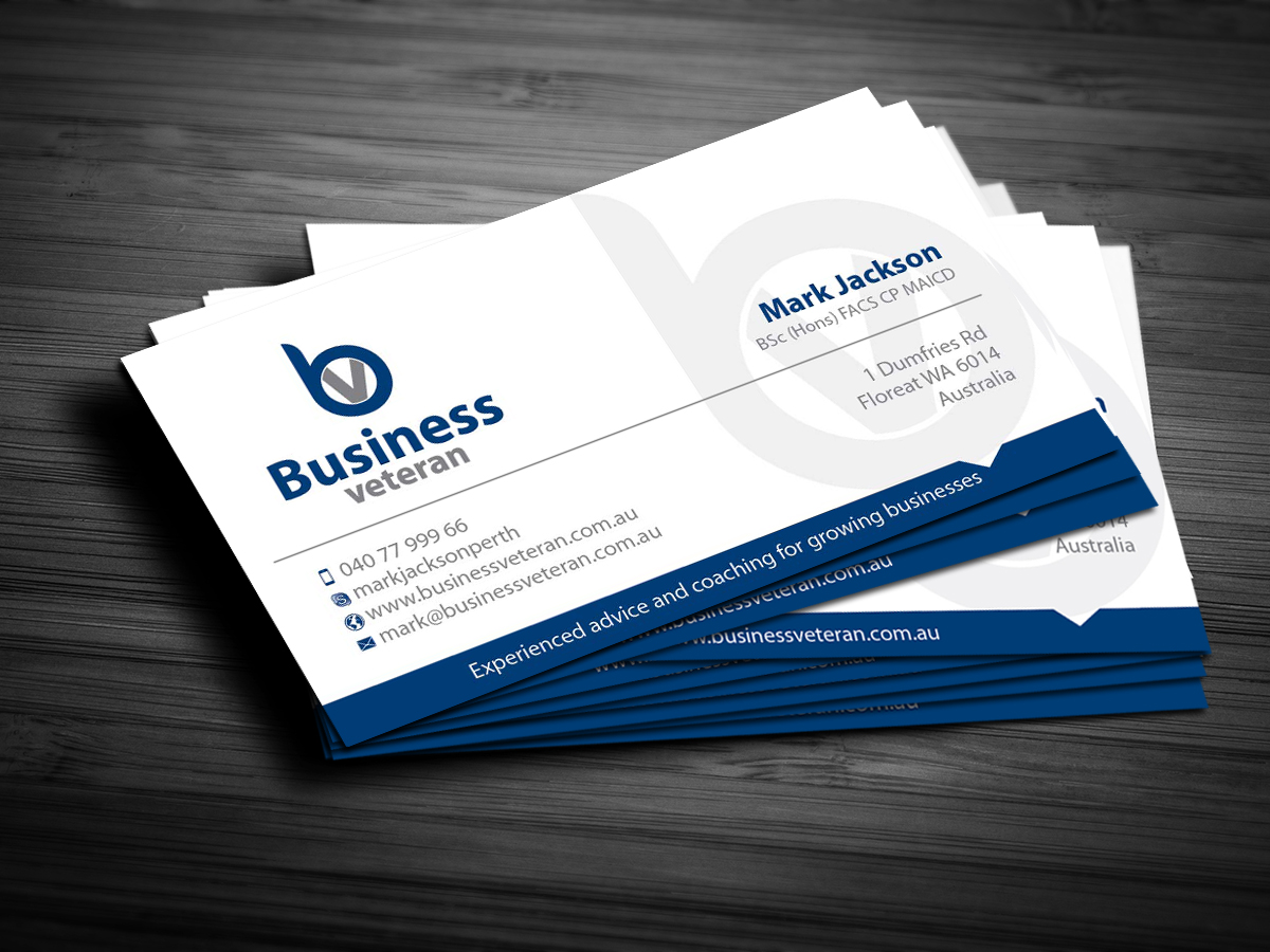 Modern serious business card design design for mark for Business design consultant