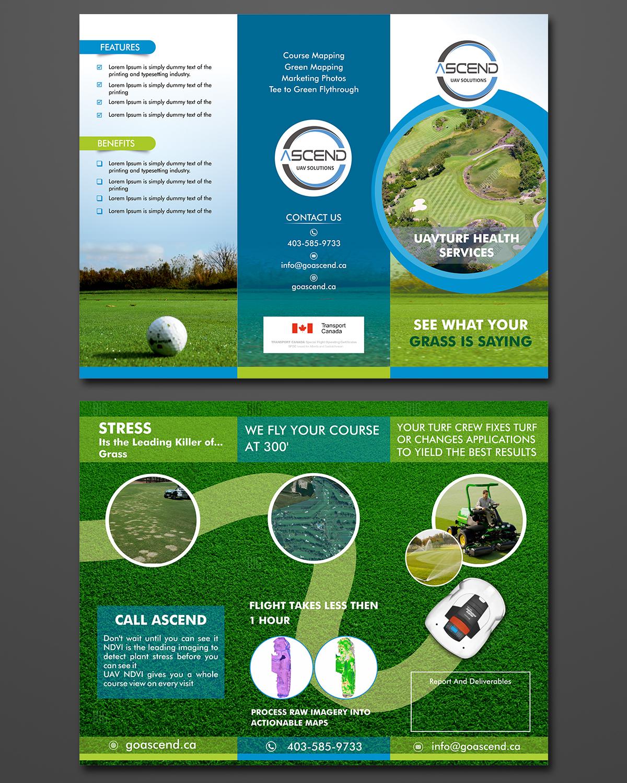 brochure design course - bold professional golf course brochure design for drone