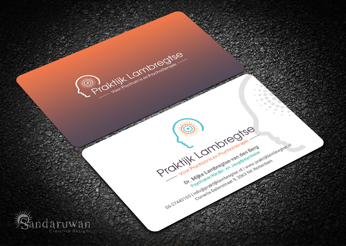 Modern playful business card design for praktijk lambregtse by business card design by sandaruwan for private practice for psychiatry and psychotherapy needs a business card magicingreecefo Image collections