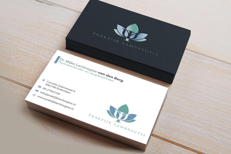 Modern Playful Mental Health Business Card Design For Praktijk
