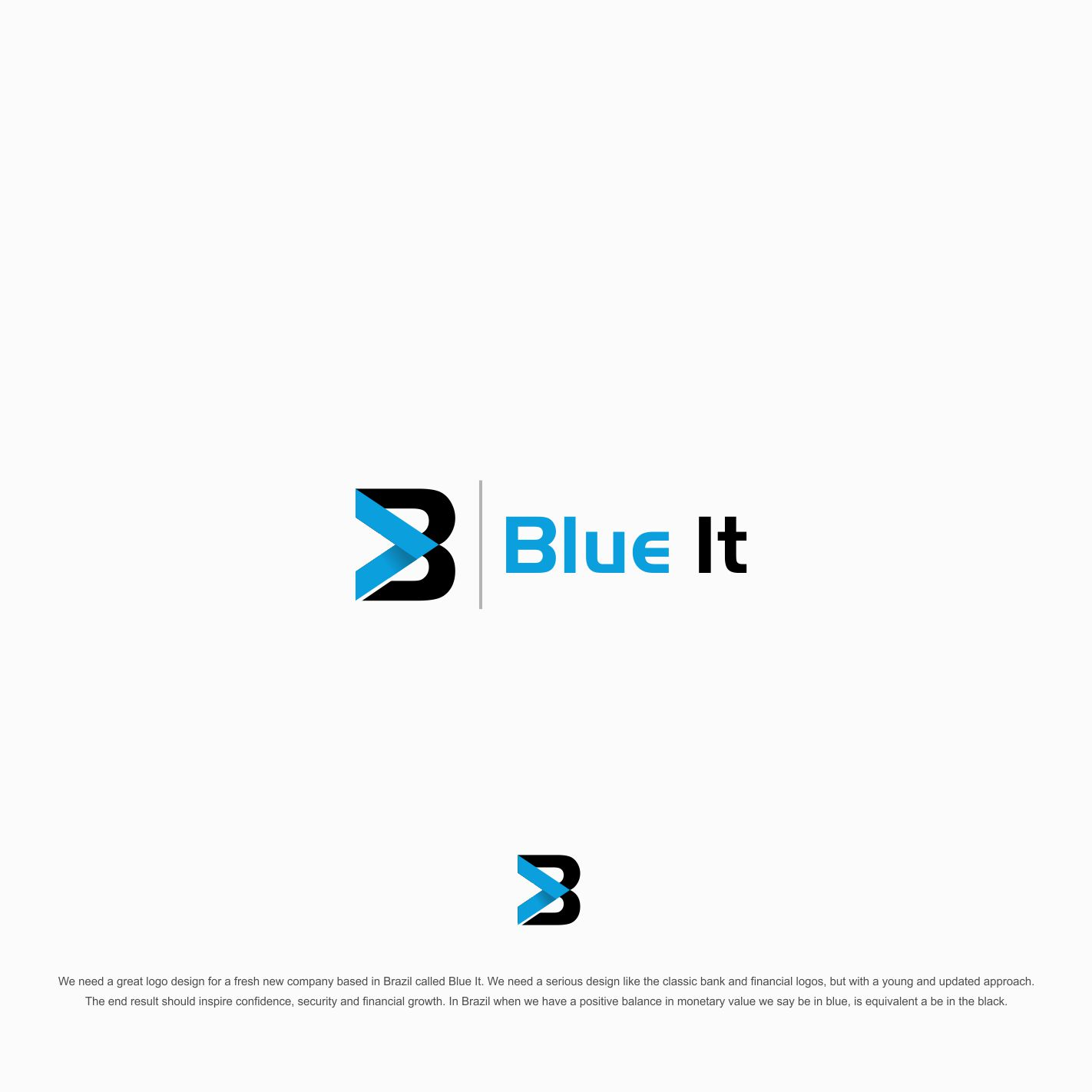 Bold Modern Financial Logo Design For Blue It By Esolz Technologies Design 14349668