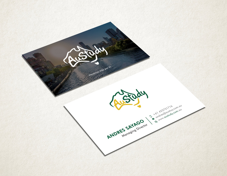 Playful modern student business card design for austudy pty ltd by business card design by graphic flame for austudy pty ltd design 15128090 colourmoves