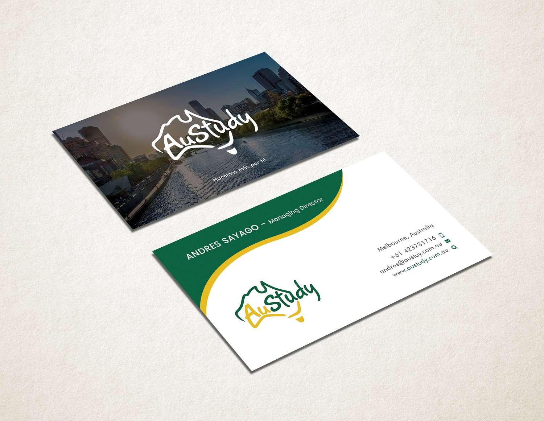 Playful Modern Student Business Card Design For Austudy