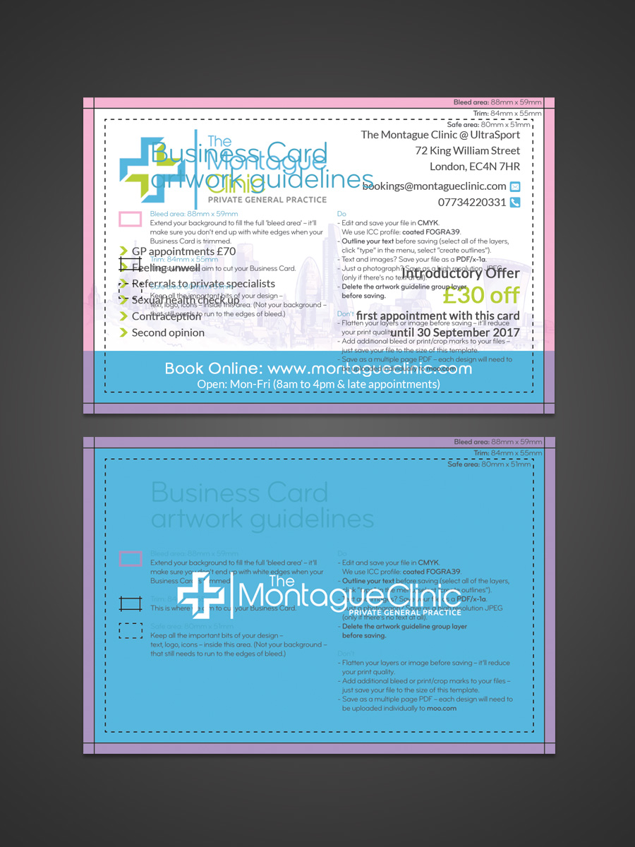 Upmarket, Modern, Health Care Business Card Design for a