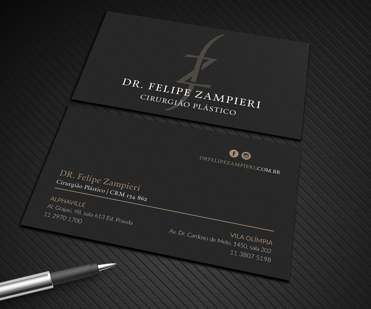 Elegant serious business card design job business card brief for business card design job business card for a plastic surgeon winning design by graphic reheart Choice Image