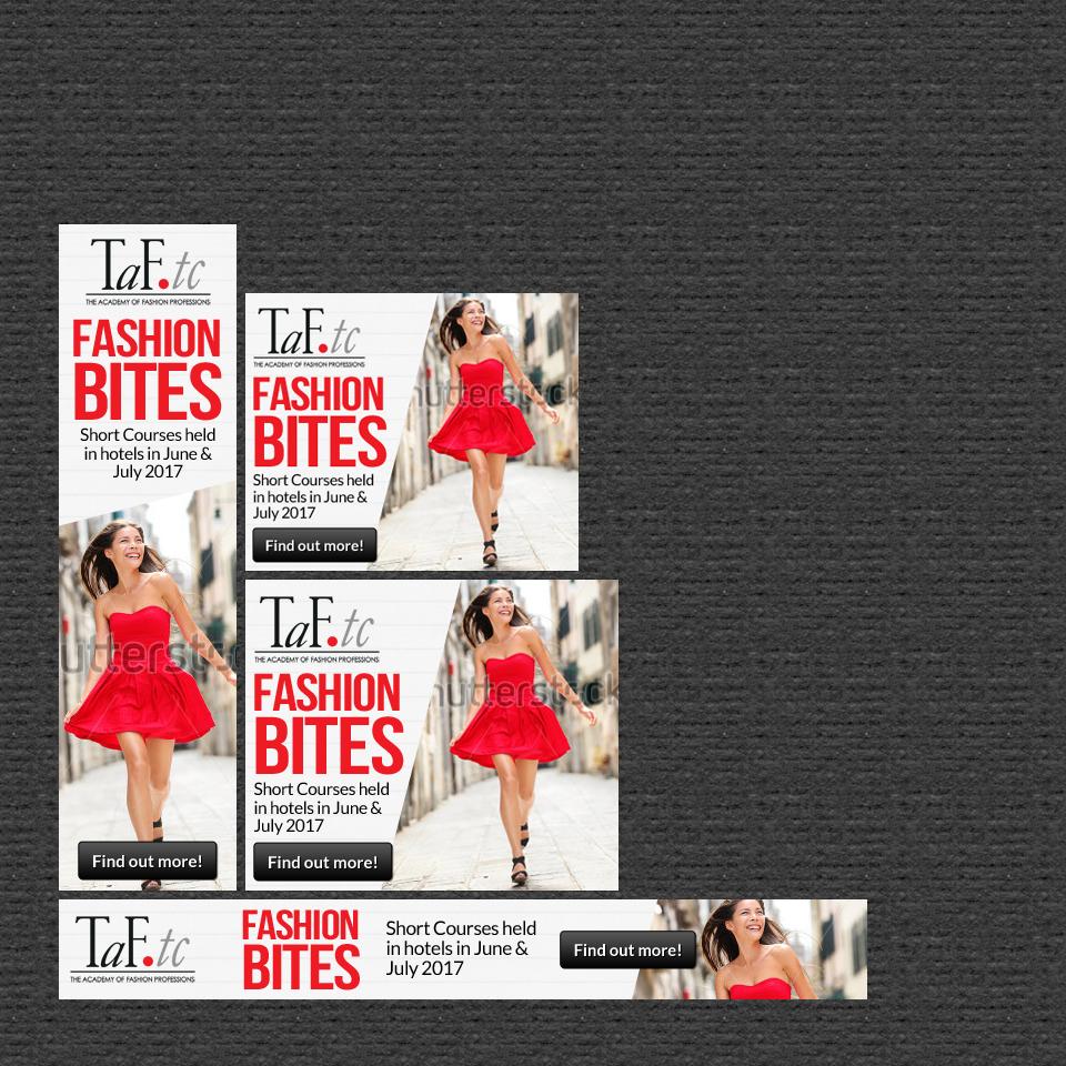 Modern Feminine Fashion Banner Ad Design For Taf Tc By Mary Kaiser Design 14374185