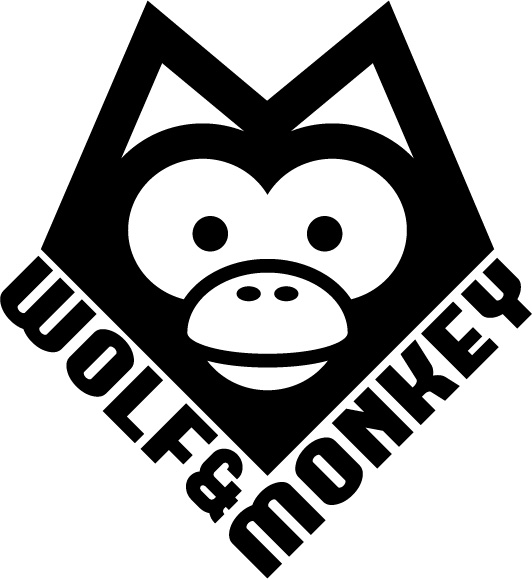 Wolf & Monkey Logo by tinylavafish