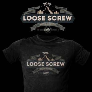 Loose Screw Dual Sport Motorcycle ride 2017 | T-shirt Design by CrowwooD