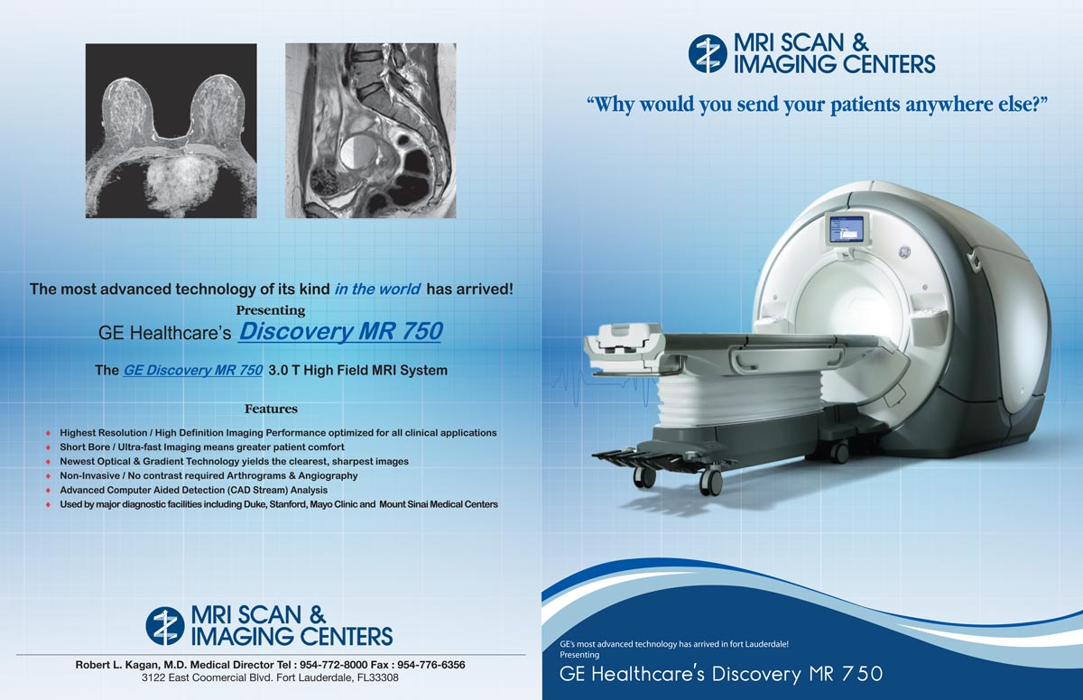 serious, professional, mri brochure design for mri scan center by