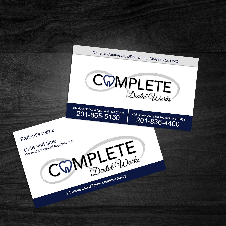 Elegant playful dental business card design for one and only business card design by davi for one and only complete dental design 14400154 reheart Images