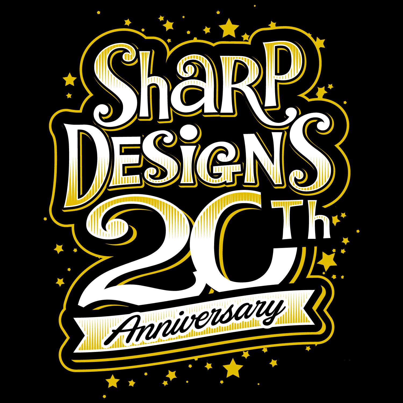 Sharp Designs Custom Embroidery 20th Anniversary T-shirt design | 10