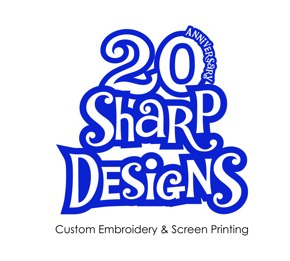 Design t shirt embroidery - T Shirt Design By Kamran Sadikhov For Sharp Designs Custom Embroidery 20th Anniversary T