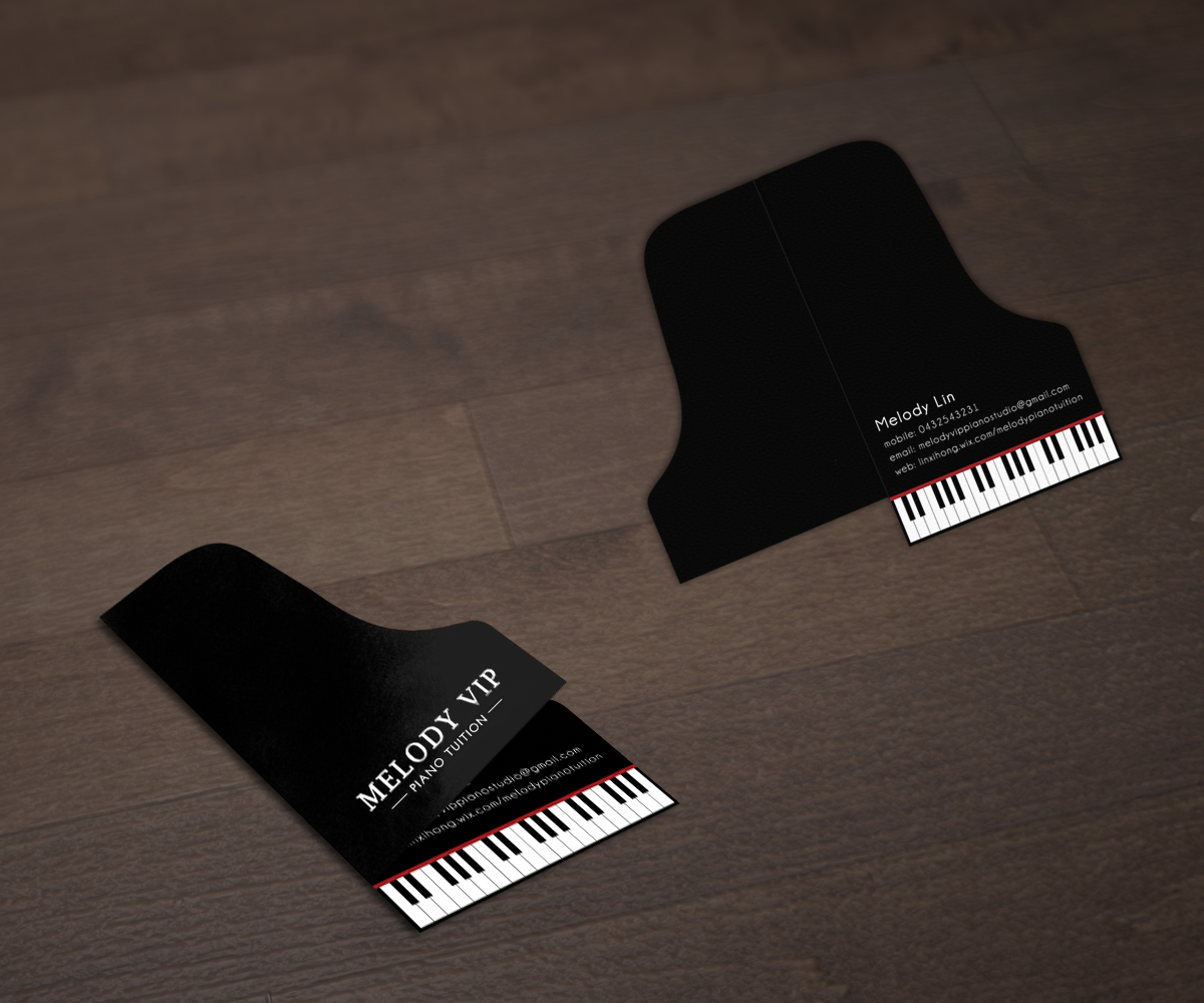 Modern professional business card design for melody lin for Music business card design