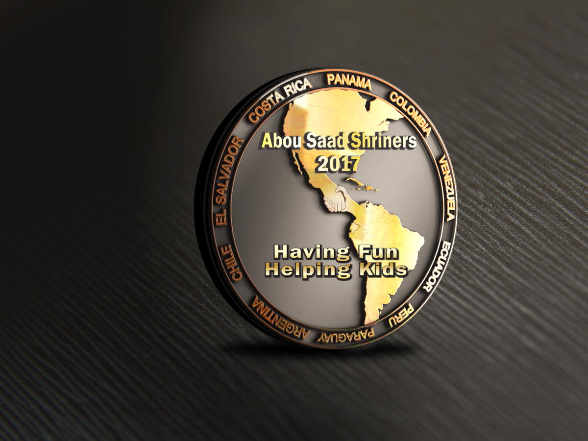 Shriners Lapel Pin for Abou Saad Shriners | 54 Graphic Designs for a