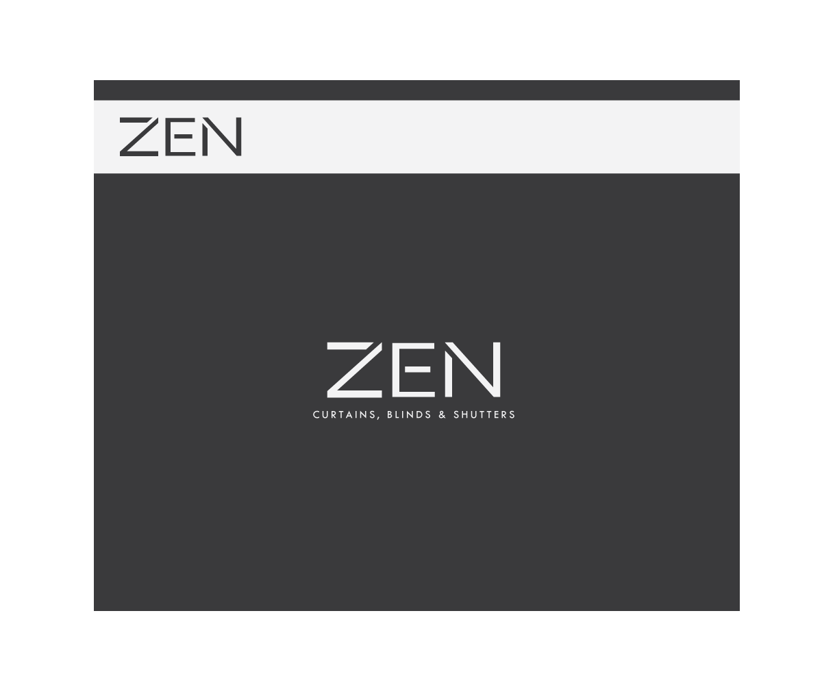 Logo Design by Sunny for Zen Curtains & Blinds | Design #14412247