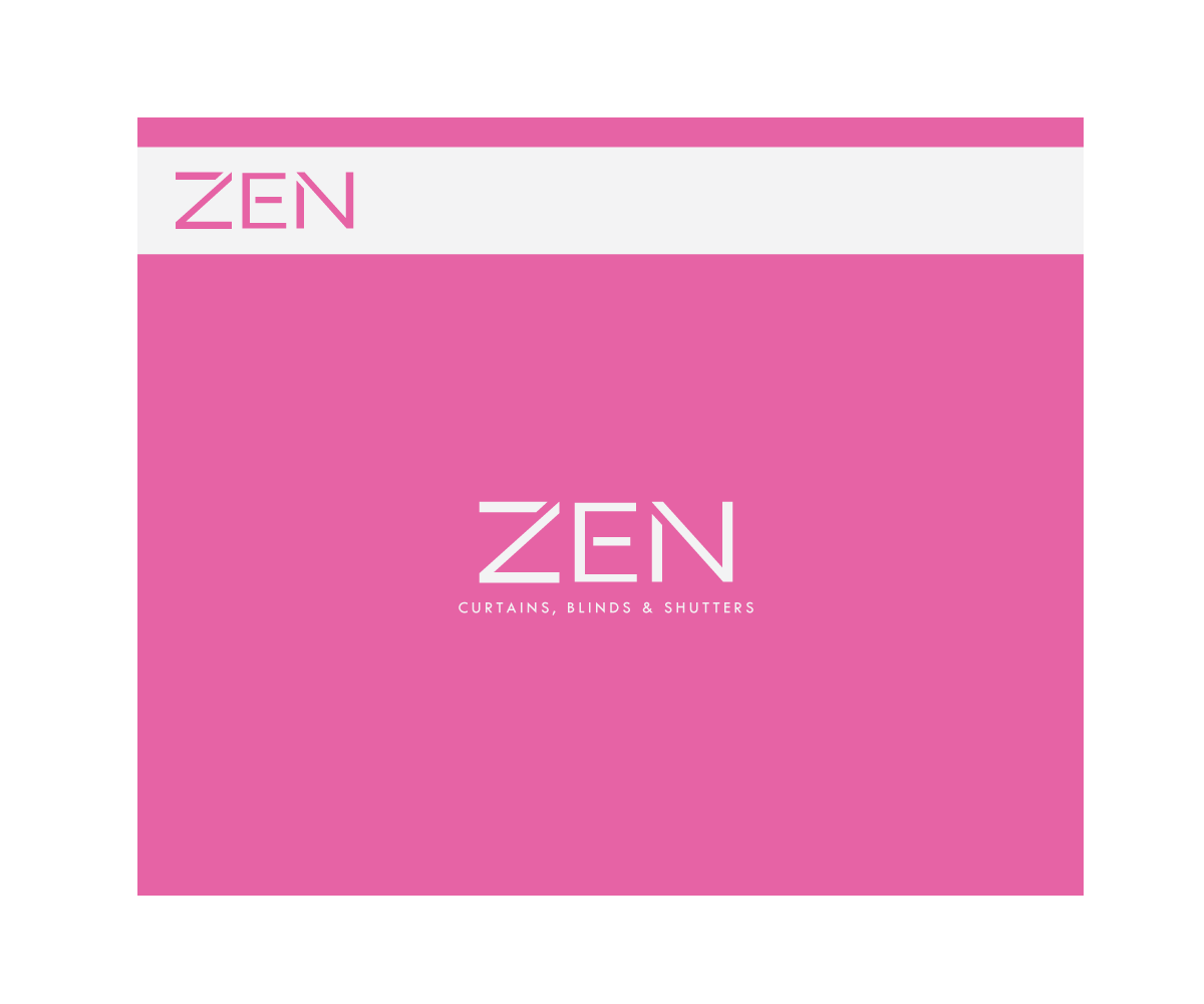 Logo Design by Sunny for Zen Curtains & Blinds | Design #14412248
