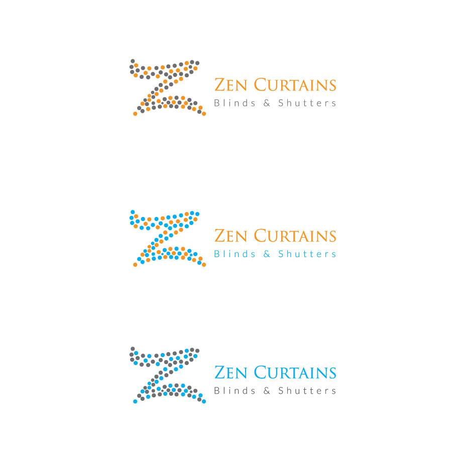 Logo Design by Creative Designer 2 for Zen Curtains & Blinds   Design #14415007