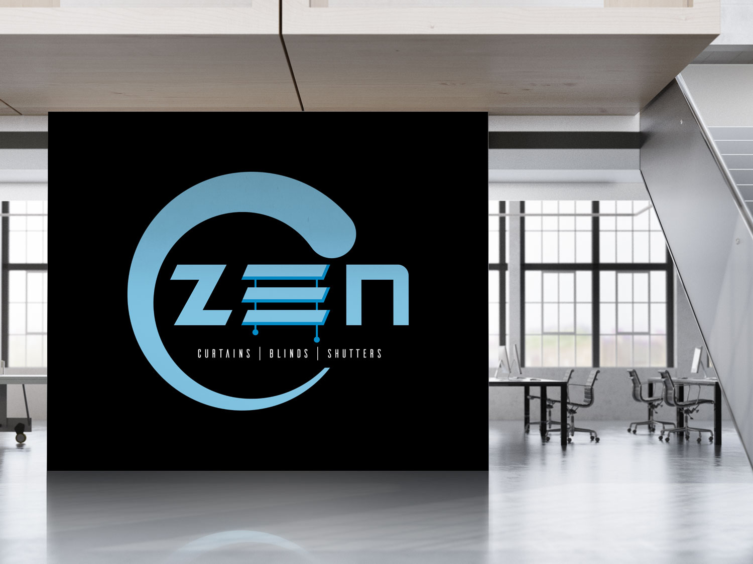 Logo Design by gates_m for Zen Curtains & Blinds | Design #14428698