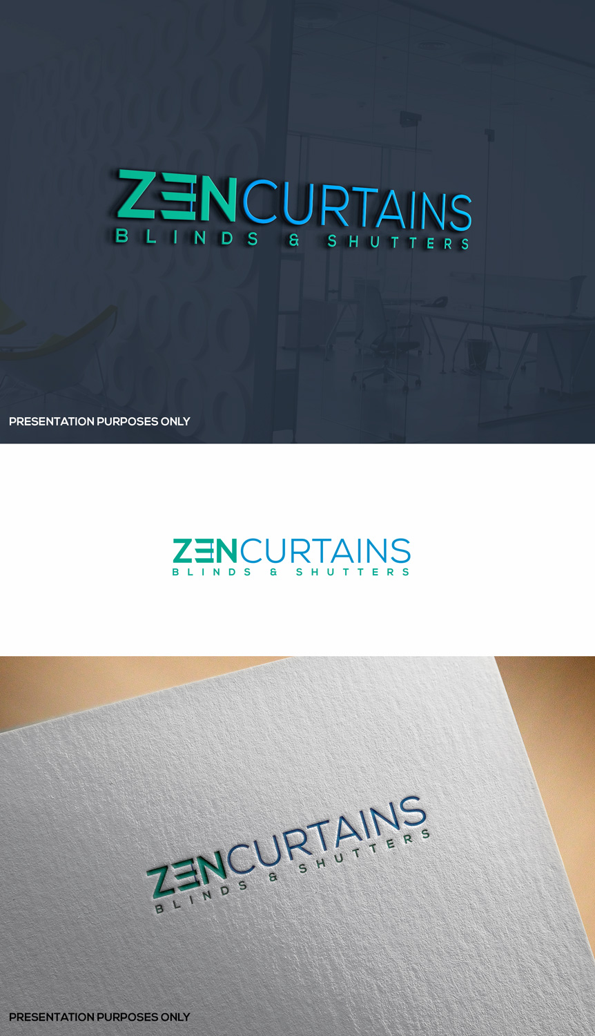 Logo Design by siri_graphix for Zen Curtains & Blinds | Design #14412078