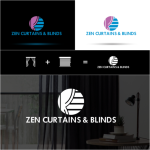 Logo Design by Design#15 for Zen Curtains & Blinds | Design #14460408