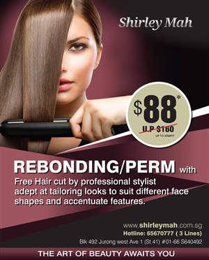 Hair Salon Advertising Poster Design | Crowdsourced Poster ...