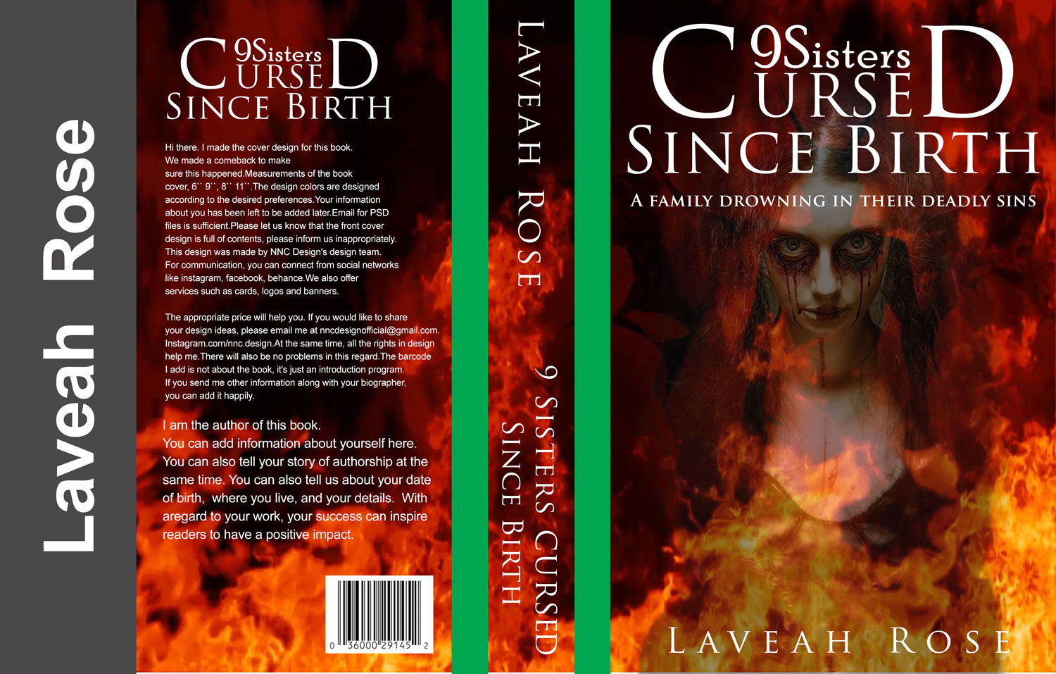 Serious professional book cover design for 9 sisters cursed since book cover design by designernnc for 9 sisters cursed since birth design 14525219 solutioingenieria Images