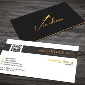upmarket professional business card design job business card