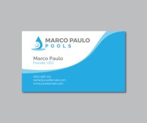 16 modern business card designs pool service business card design business card design by mpirs for this project design 14438662 colourmoves Choice Image