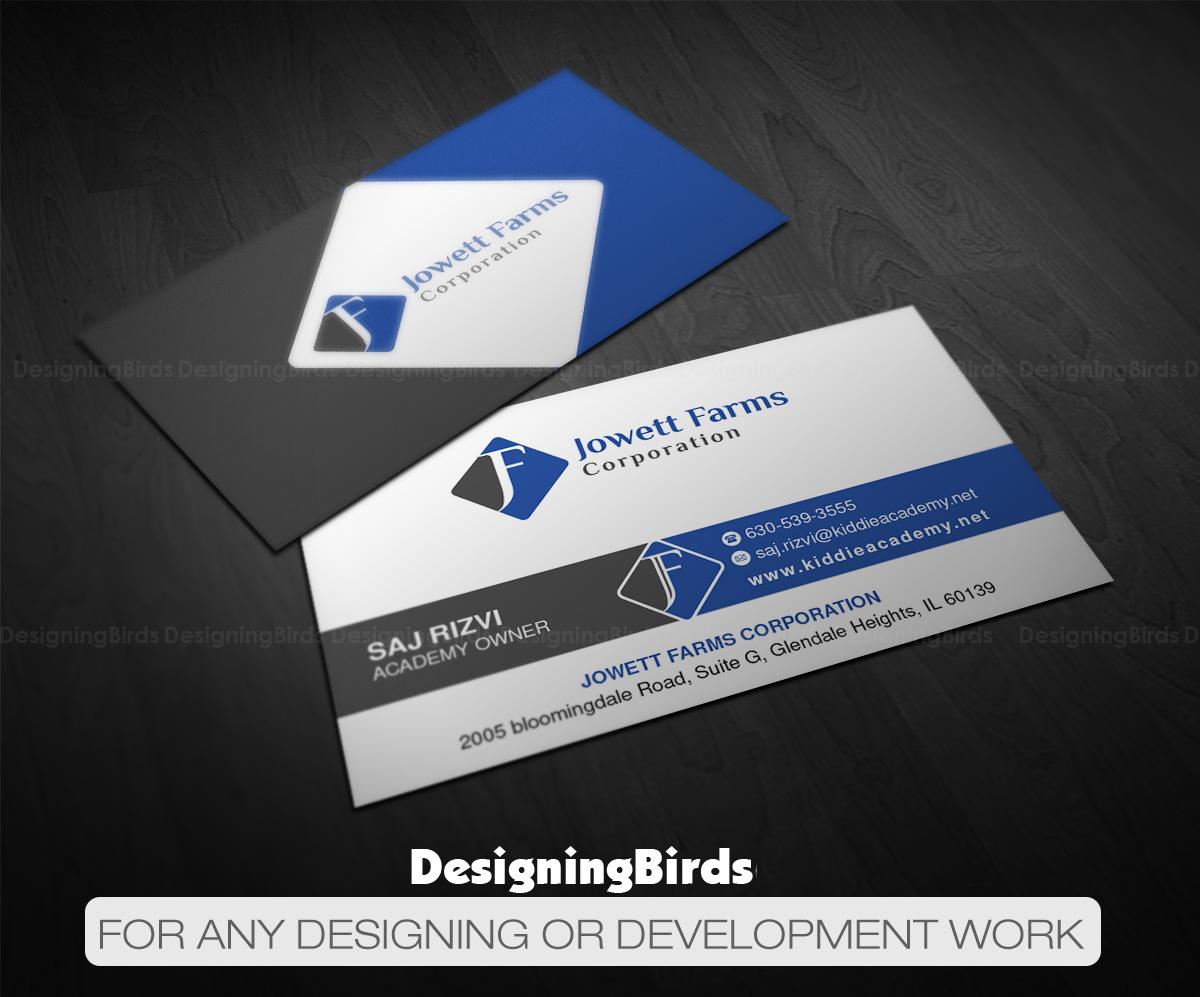 Professional serious wholesale business card design for jowett business card design by designing birds for jowett farms corporation design 14479055 reheart Choice Image