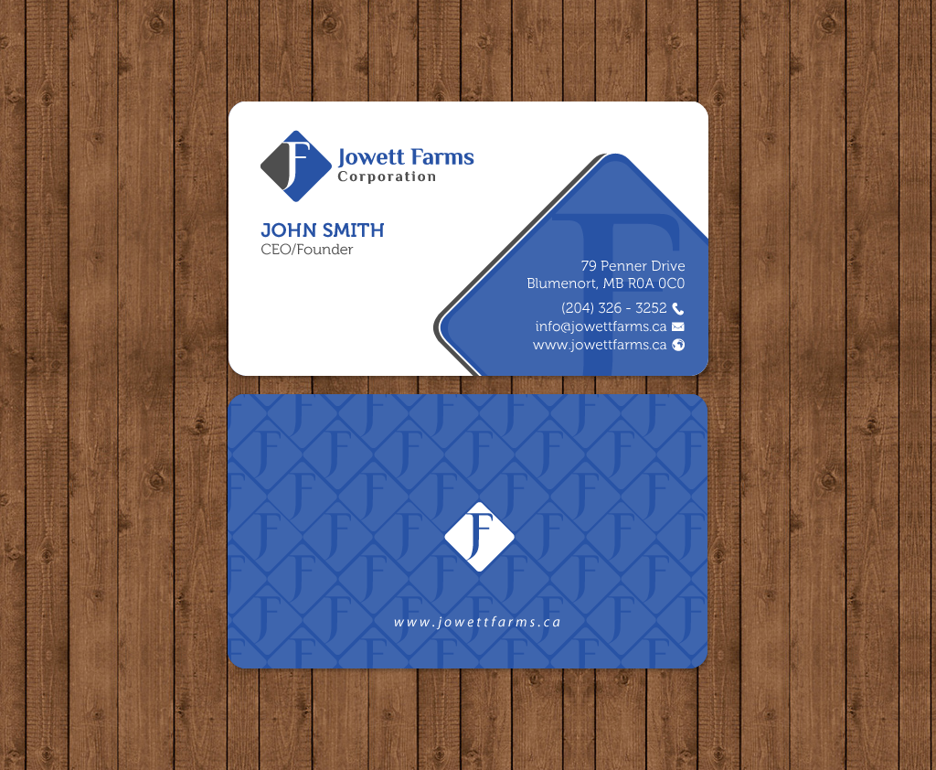 Professional serious wholesale business card design for jowett business card design by chandrayaaneative for jowett farms corporation design 14445290 reheart Choice Image