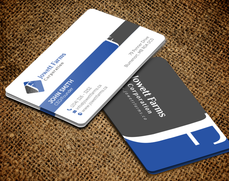 Professional serious wholesale business card design for jowett business card design by chandrayaaneative for jowett farms corporation design 14446551 reheart Choice Image
