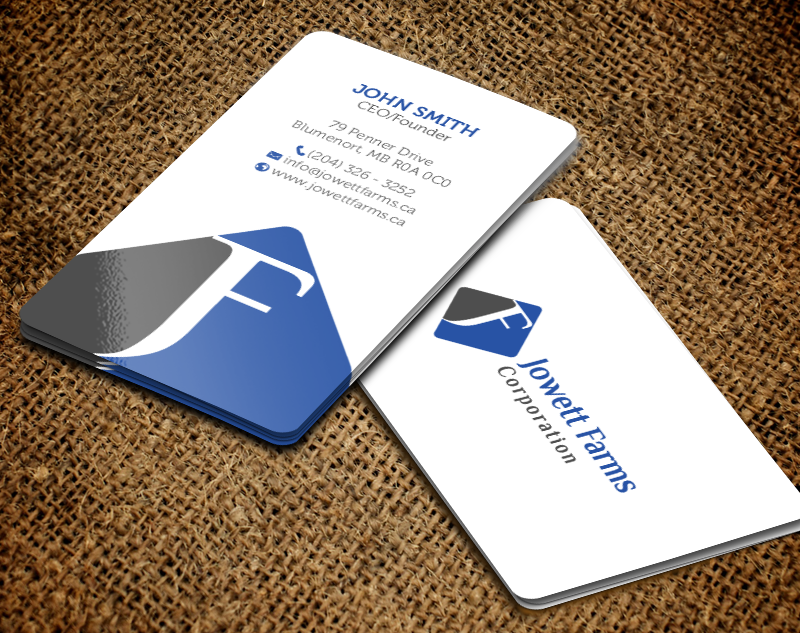 Professional serious wholesale business card design for jowett business card design by chandrayaaneative for jowett farms corporation design 14446554 reheart Choice Image